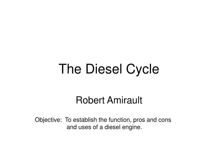 the diesel cycle