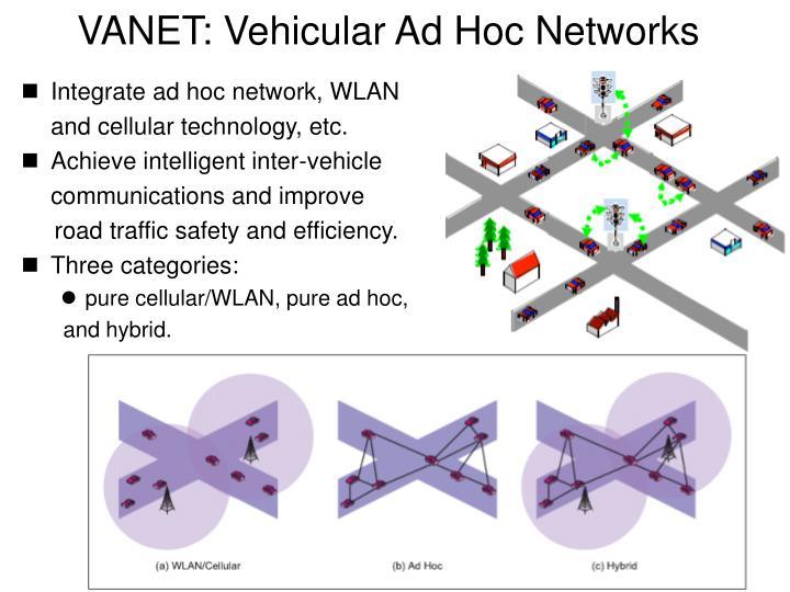 Vanet vehicular ad hoc networks