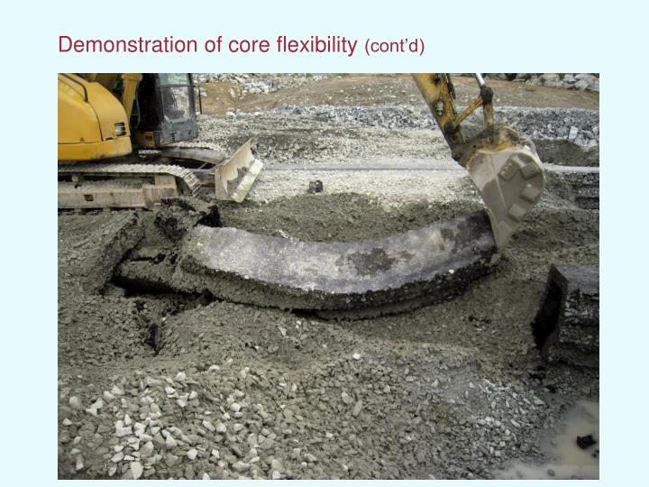 Demonstration of core flexibility