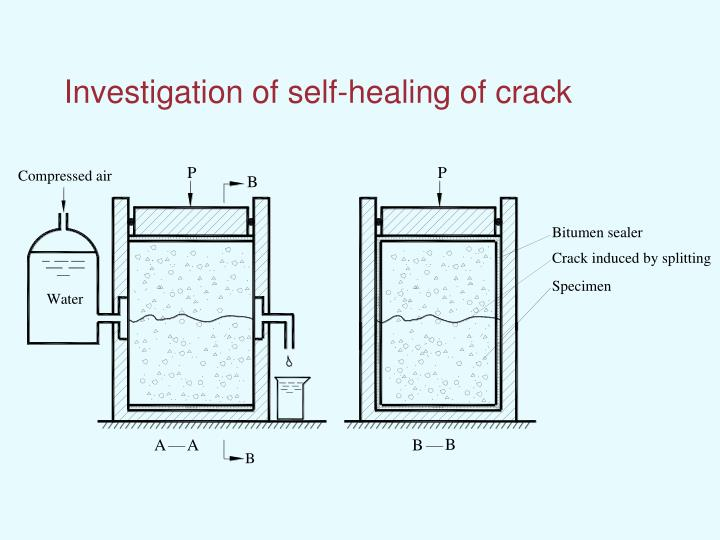 Investigation of self-healing of crack