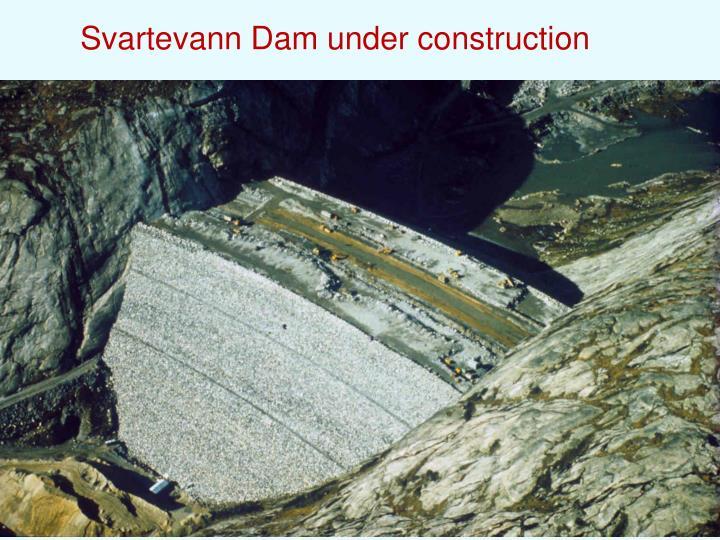 Svartevann Dam under