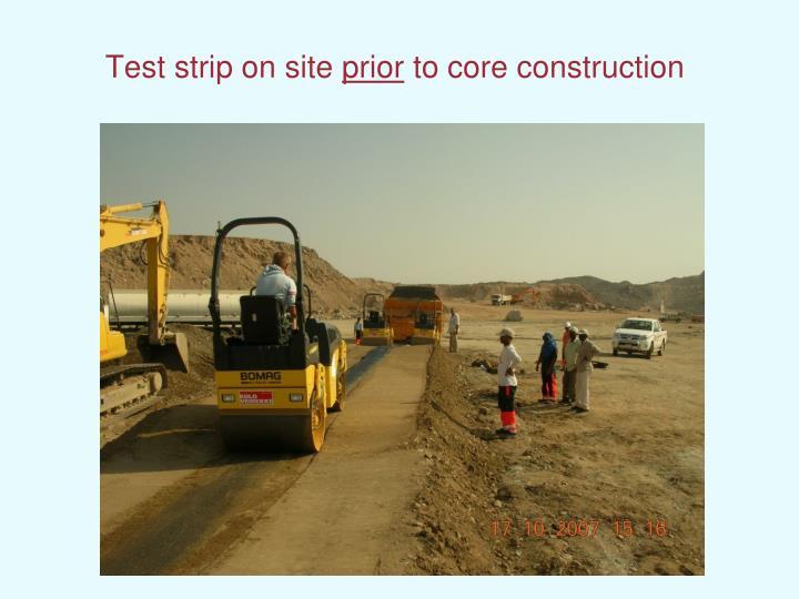Test strip on site
