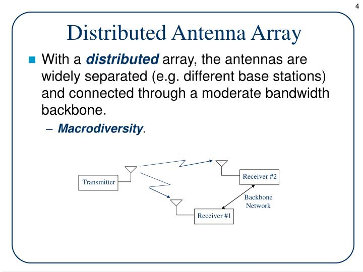 Distributed Antenna Array