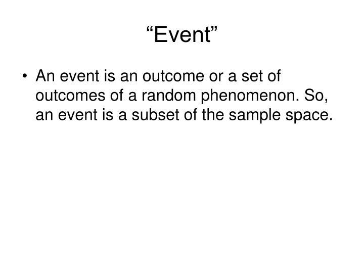 """Event"""