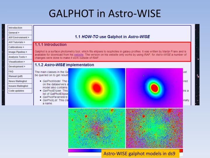 Galphot in astro wise