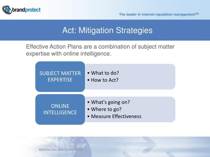 Act: Mitigation Strategies