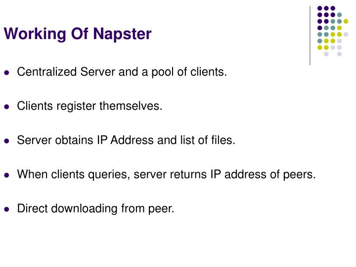 Working Of Napster