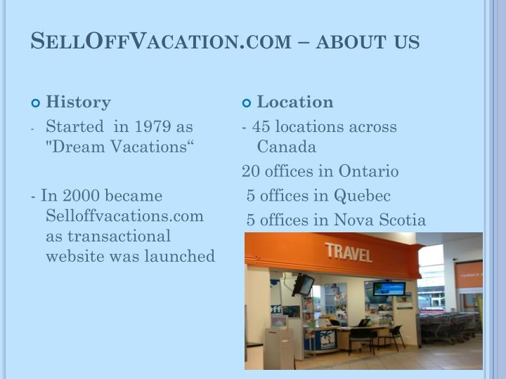 Selloffvacation com about us