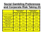 social gambling preferences and corporate risk taking ii
