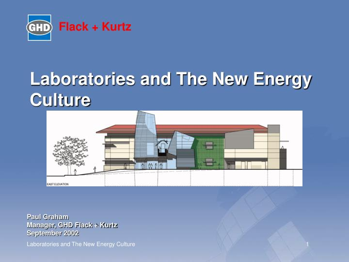 laboratories and the new energy culture n.
