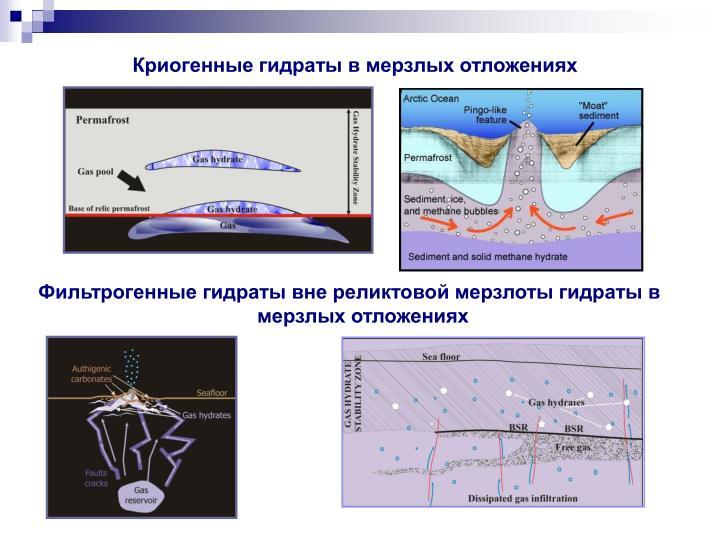Криогенные гидраты в мерзлых отложениях