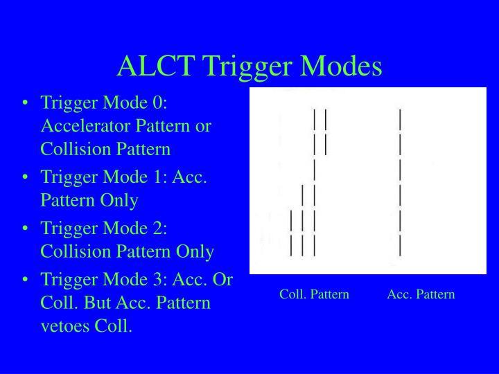 ALCT Trigger Modes