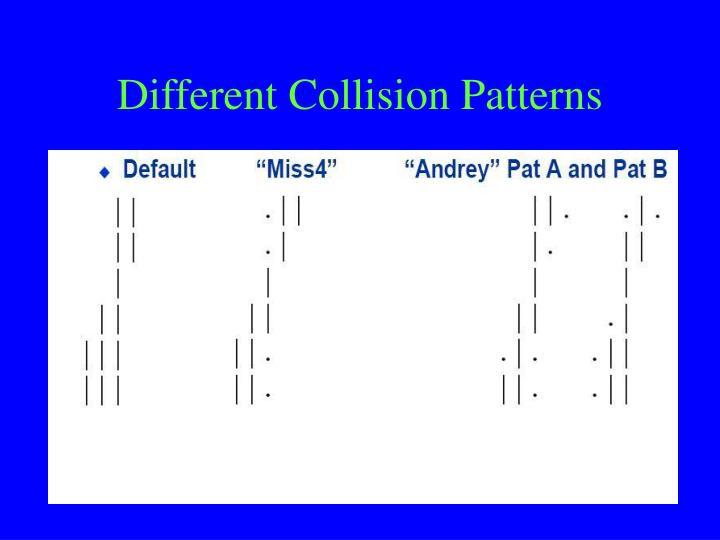 Different Collision Patterns