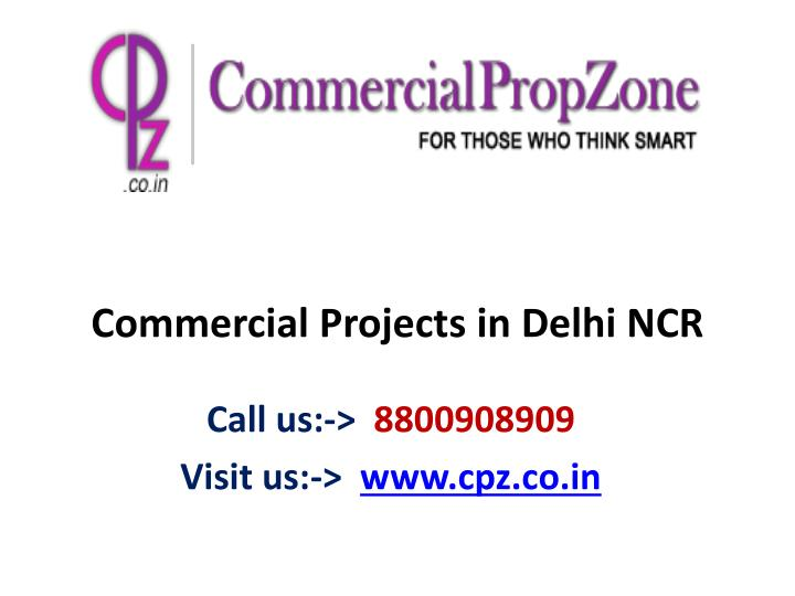 commercial projects in delhi ncr n.