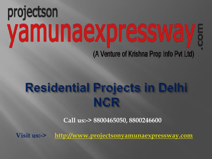 residential projects in delhi ncr n.