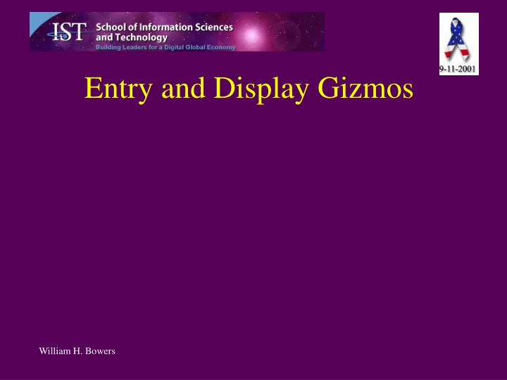 entry and display gizmos n.