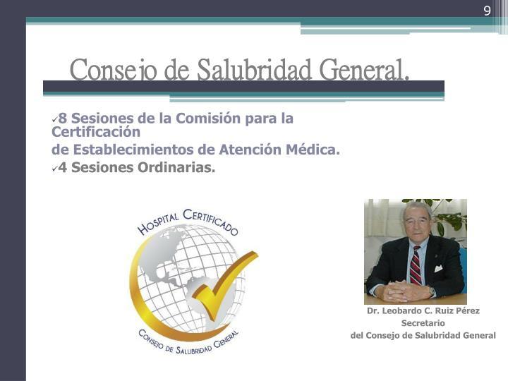 Consejo de Salubridad General.