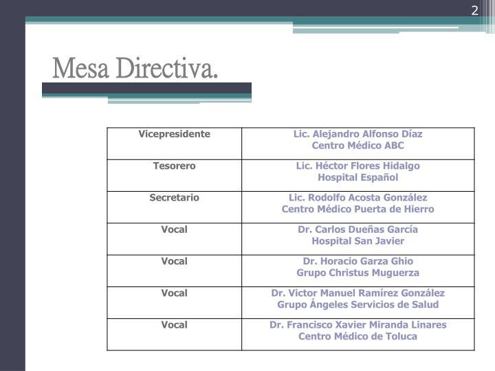 Mesa Directiva.