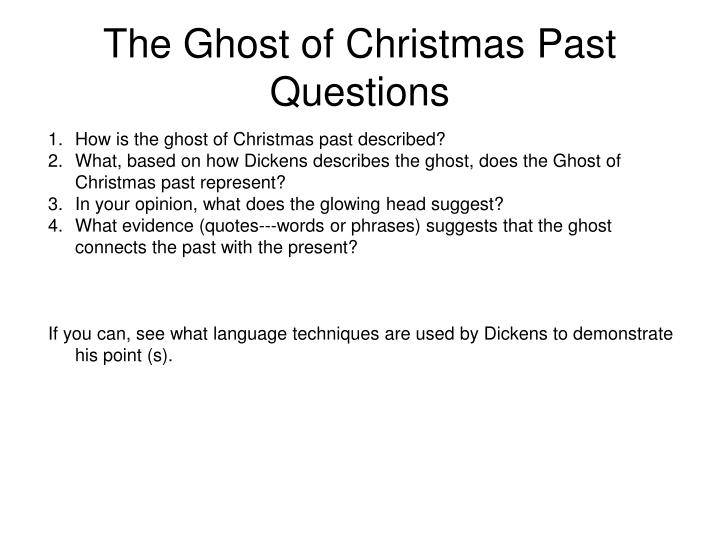 Ppt The Ghost Of Christmas Past Powerpoint Presentation Id4145765