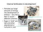 internal fertilization development