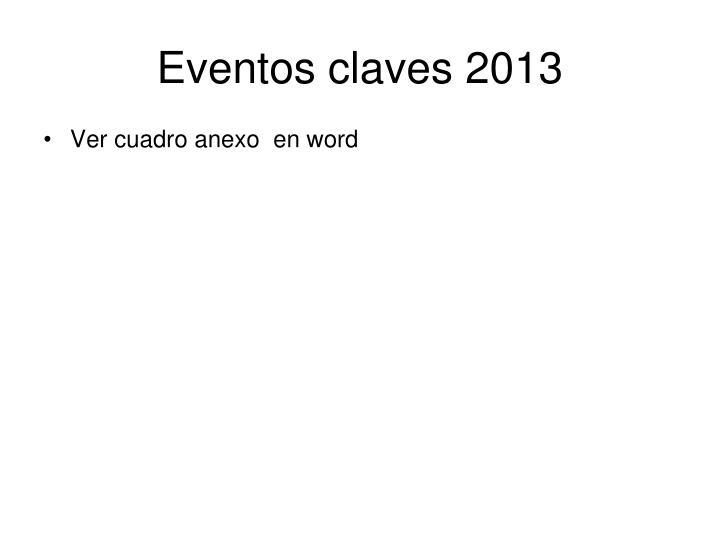 Eventos claves