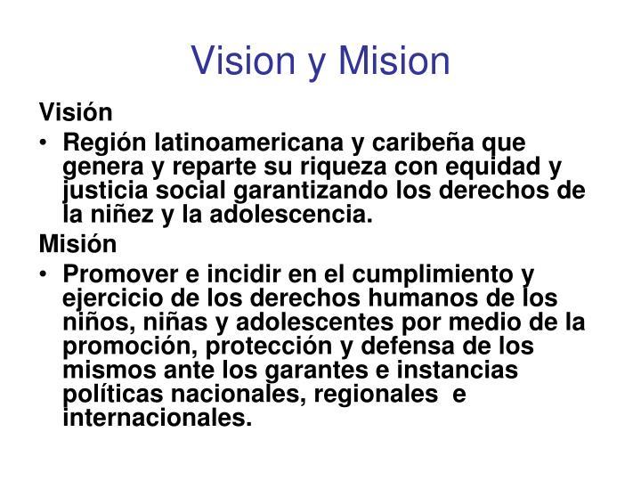 Vision y mision