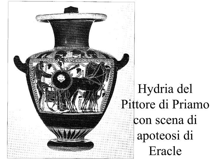 Hydria del Pittore di Priamo con scena di apoteosi di Eracle