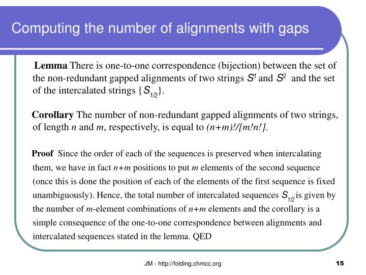 Computing the number of alignments with gaps