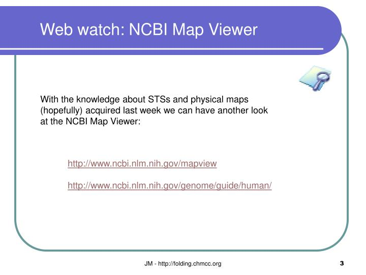 Web watch ncbi map viewer