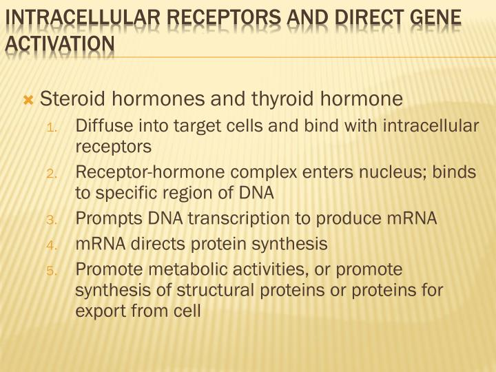 Steroid hormones and thyroid hormone