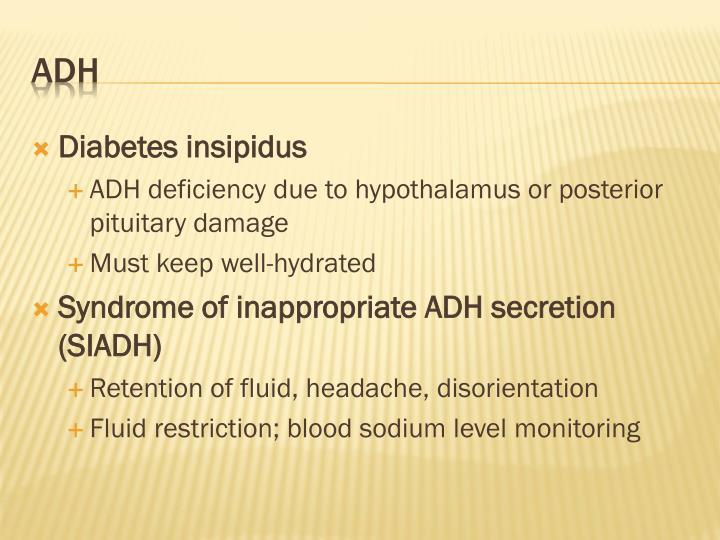 Diabetes insipidus