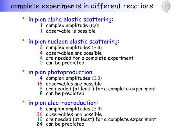 in pion alpha elastic scattering: