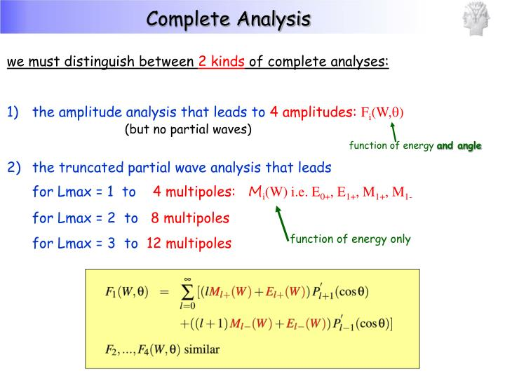Complete Analysis