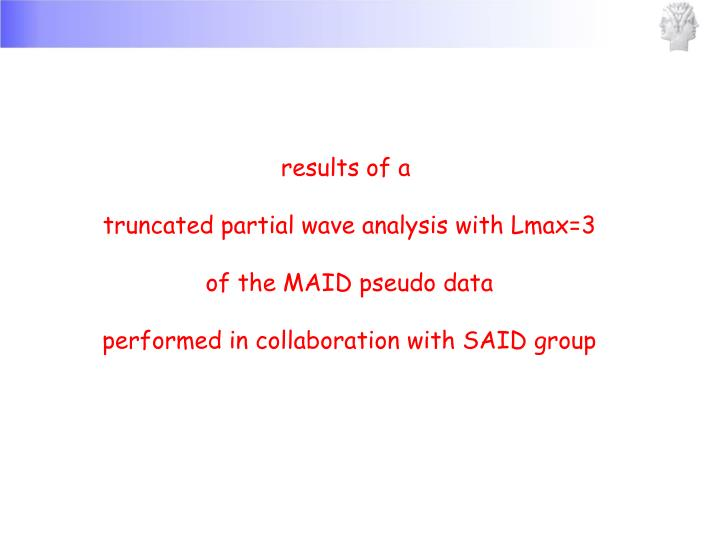 results of a