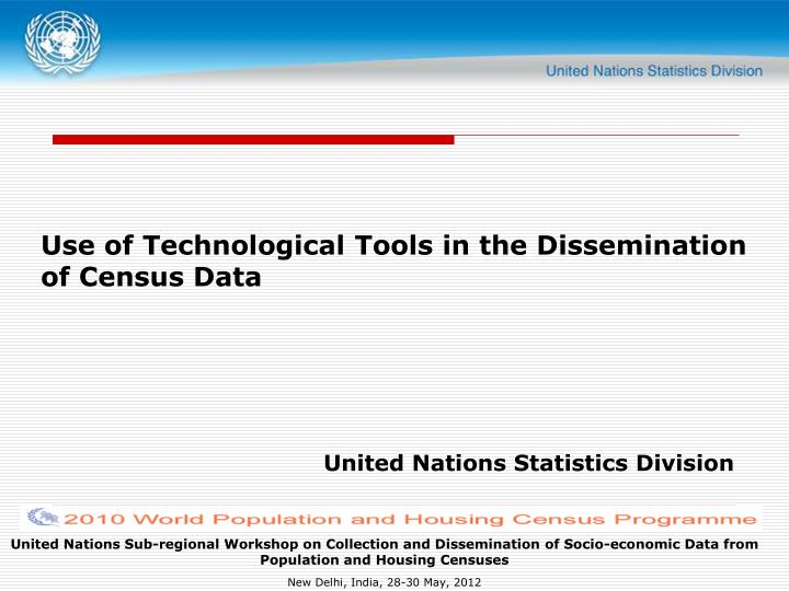use of technological tools in the dissemination of census data n.