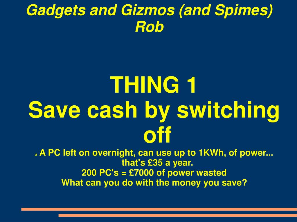 PPT - Gadgets and Gizmos PowerPoint Presentation, free ...