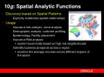 10 g spatial analytic functions