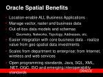 oracle spatial benefits