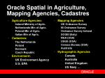 oracle spatial in agriculture mapping agencies cadastres