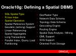 oracle10g defining a spatial dbms
