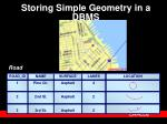 storing simple geometry in a dbms