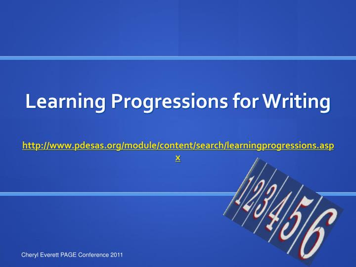 Learning Progressions for Writing