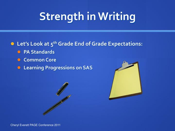 Strength in Writing
