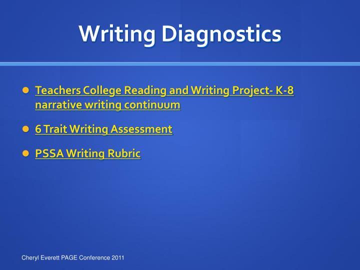 Writing Diagnostics