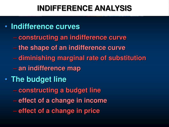 indifference analysis n.
