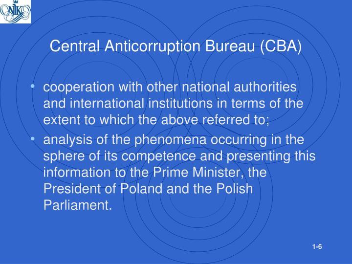 Central Anticorruption Bureau (CBA)