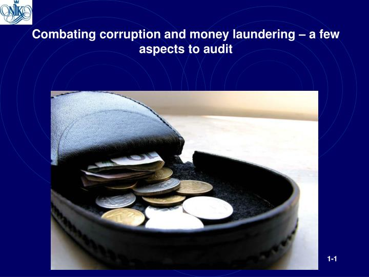 Combating corruption and money laundering a few aspects to audit
