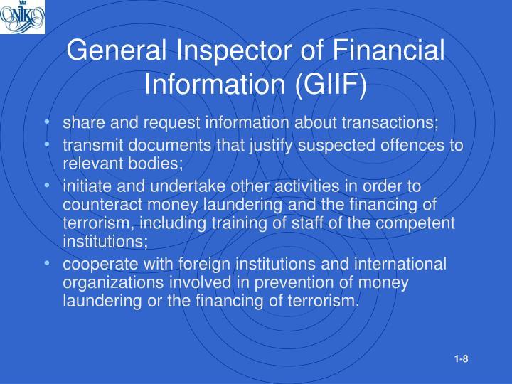 General Inspector of Financial Information (GIIF)