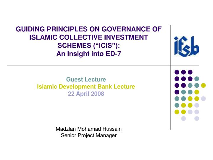 guiding principles for shariah governance
