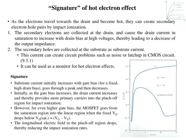 """""""Signature"""" of hot electron effect"""